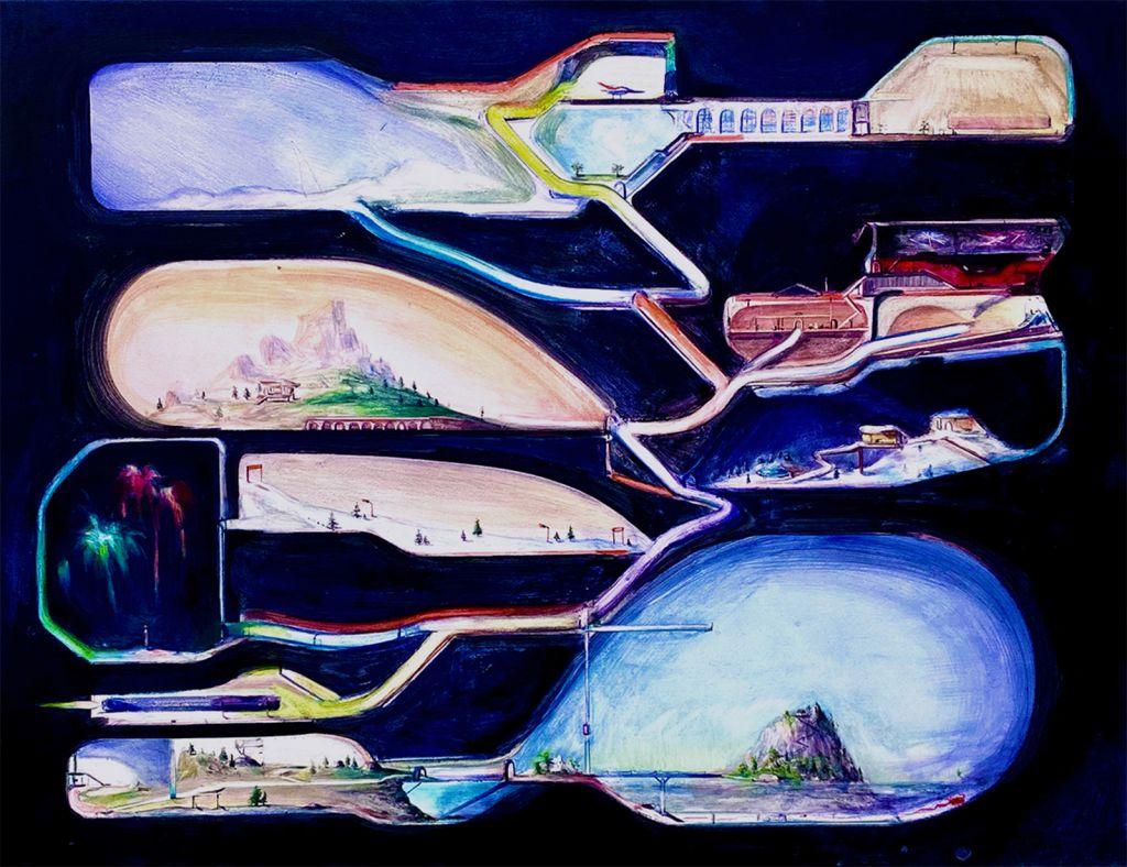 Raumschiff, Neu, Tempera auf Leinwand, 2021, 80x100cm
