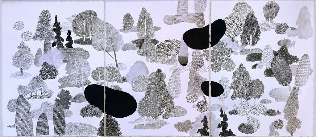 Jieun Park, where i live, 76×174 cm, color on paper, 2020