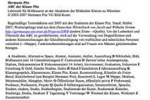 Homepage der Klasse Prof. Hermann Pitz