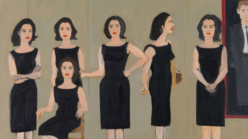 Alex Katz, The Black Dress, 1960, Udo und Anette Brandhorst Sammlung, Foto: Haydar Koyupinar, © Alex Katz